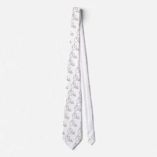 El mirar de rogación de la mujer para arriba el corbata