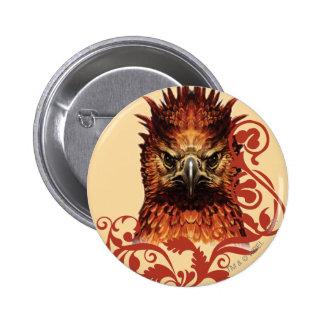 El mirar fijamente de Fawkes Pin Redondo De 2 Pulgadas