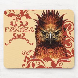 El mirar fijamente de Fawkes Tapetes De Ratón