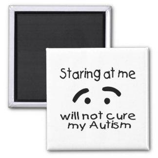 El mirar fijamente mí no curará mi autismo imán cuadrado