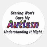 El mirar fijamente no curará mi autismo pegatinas