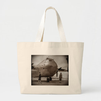 El mirar para arriba el bombardero bolsa de tela grande