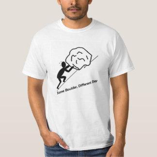 El mismo Boulder, diversa camiseta del día
