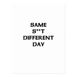 el mismo s ** diverso día de t tarjeta postal
