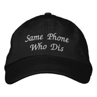 """El """"mismo teléfono que gorra de béisbol ajustable"""