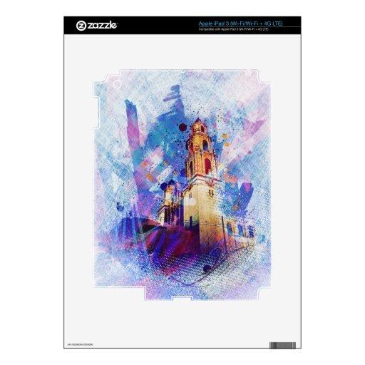 el MissionDolores vibrante de San Francisco Pegatinas Skins Para iPad 3