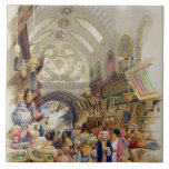 El Missr Tcharsky, o mercado egipcio, en Constan Azulejo Cuadrado Grande