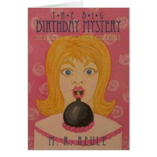 El misterio grande del cumpleaños Arte de la cub Felicitacion