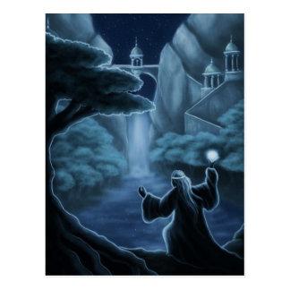 el místico riega fantasía postales