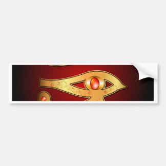 El místico todo el ojo que ve pegatina de parachoque