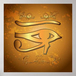 El místico todo el ojo que ve impresiones