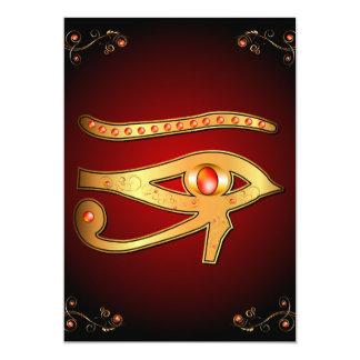 """El místico todo el ojo que ve invitación 5"""" x 7"""""""