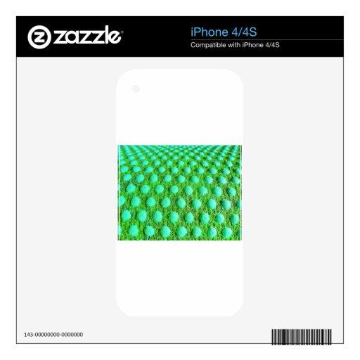 el mit del grün grünen Punkten iPhone 4S Skins