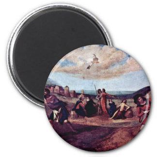 El mito de la secuencia de la pintura de PROMETHEU Imán De Frigorífico