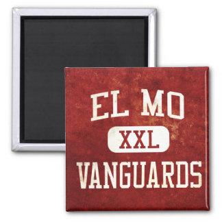 """""""El Mo"""" Vanguards Athletics 2 Inch Square Magnet"""