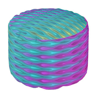 El modelo abstracto cae las ondas coloreadas + sus puf redondo