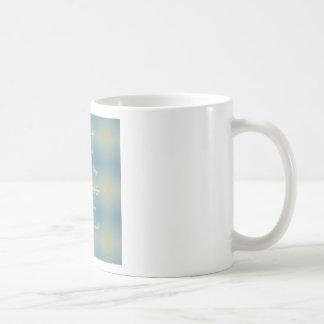 """El modelo amarillo azul """"creó bebé de un milagro"""" taza"""