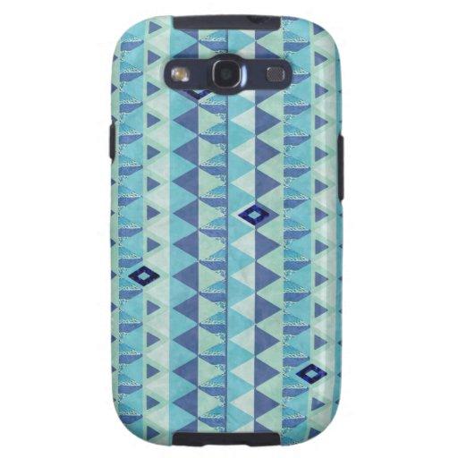 El modelo azul Samsung de la geometría llama por Funda Para Samsung Galaxy S3