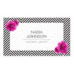 El modelo blanco y negro con rosa florece belleza tarjetas personales