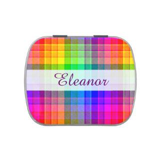 El modelo colorido el | de la tela escocesa del jarrones de dulces