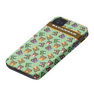 El modelo colorido lindo del búho elige color del Case-Mate iPhone 4 carcasa