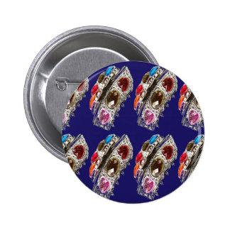 El modelo de imitación de la joya de la corona EMB Pin Redondo De 2 Pulgadas