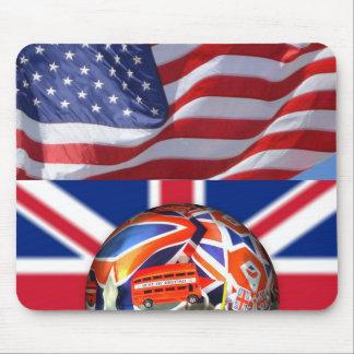 El modelo de la bandera americana de Union Jack Alfombrilla De Ratones