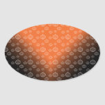 El modelo de la calabaza en negro anaranjado se colcomanias oval