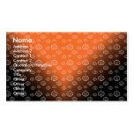 El modelo de la calabaza en negro anaranjado se tarjetas de visita