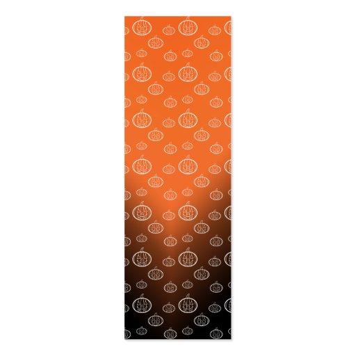 El modelo de la calabaza en negro anaranjado se tarjetas de visita mini