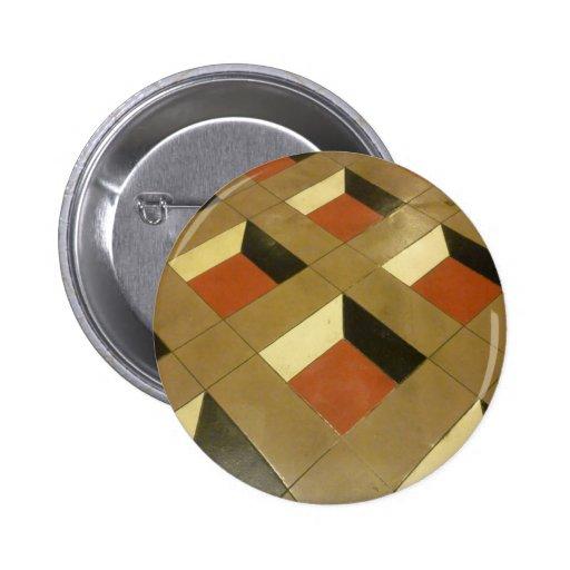 El modelo de la ilusión óptica del piso teja el ph pin redondo 5 cm