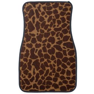 El modelo de la impresión de la piel de la jirafa alfombrilla de coche