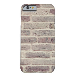 El modelo de la textura de la pared de ladrillo funda de iPhone 6 barely there