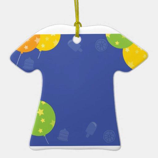 El MODELO de las CELEBRACIONES añade sus SALUDOS Adorno De Cerámica En Forma De Camiseta