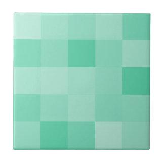 El modelo de mosaico de la verde menta teja la