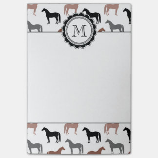 El modelo del amante del caballo notas post-it®