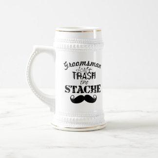 El modelo del bigote de Stache Tazas De Café