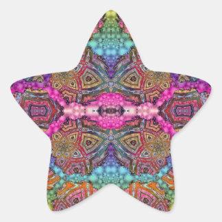 El modelo del Día-Glo moja Pegatina En Forma De Estrella
