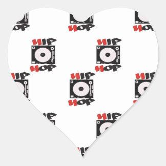 El modelo del logotipo de la compañía de HIP HOP Calcomanía Corazón