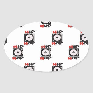 El modelo del logotipo de la compañía de HIP HOP Pegatina Ovalada