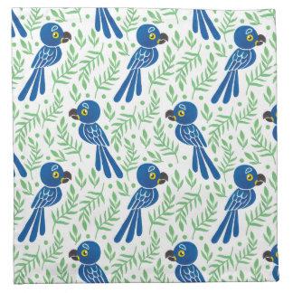 El modelo del Macaw del jacinto Servilleta Imprimida