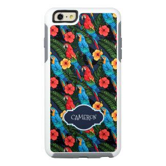 El modelo el | del Macaw y del hibisco añade su Funda Otterbox Para iPhone 6/6s Plus