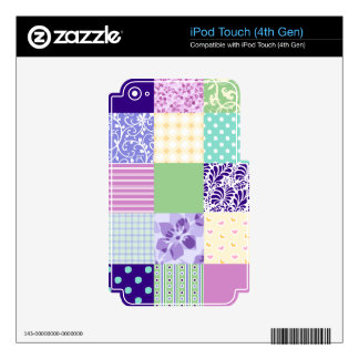 El modelo femenino y fresco ajusta el edredón del  calcomanías para iPod touch 4G