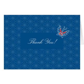 El modelo floral del batik de Aiyana le agradece c Tarjeta De Felicitación
