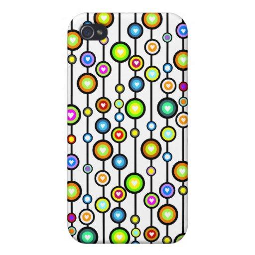 el modelo lindo de la corriente del amor por el th iPhone 4 cárcasa