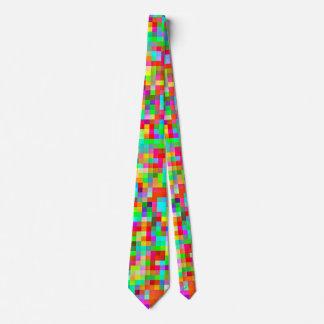 El modelo más colorido más brillante del pixel corbata