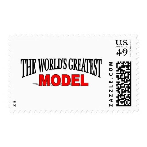 El modelo más grande del mundo franqueo