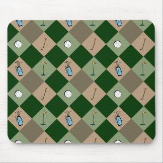 El modelo Mousepad del golfista Alfombrillas De Ratón
