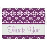 """El modelo púrpura """"le agradece"""" las tarjetas"""