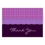 El modelo púrpura le agradece TH001 Felicitaciones